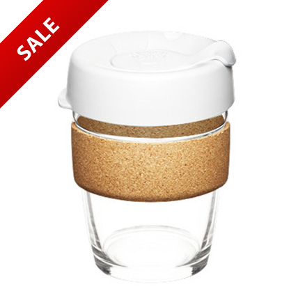 Glass Keep Cup 12oz with Corke Band