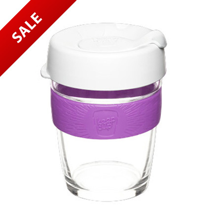 Glass Keep Cup 12oz with Silicon Band