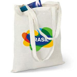 Long Handle Custom Printed Tote Bags