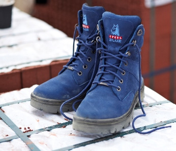 Steel Blue Boots